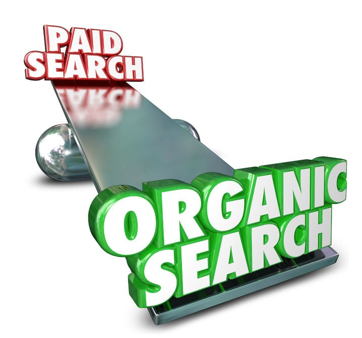 difference between paid and organic search